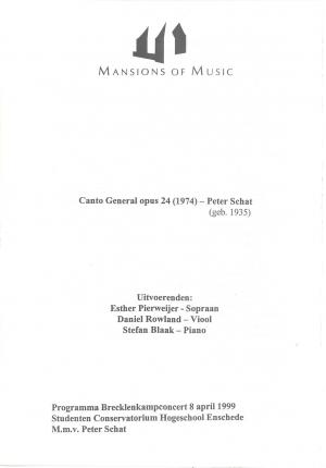 Canto General opus 24