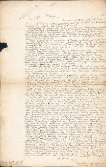 Brief van Wayer aan Adriaan van Camont